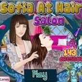 София в парикмахерском салоне
