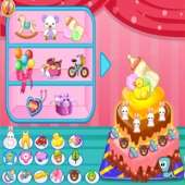 Праздничный детский торт